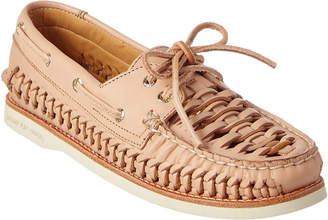 Sperry Women's A/O Woven Leather Boat Shoe