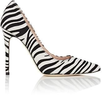 Barneys New York Women's Zebra-Print Calf Hair Pumps