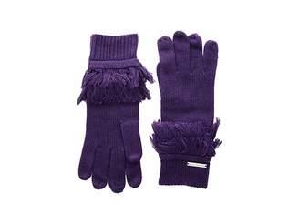 MICHAEL Michael Kors Rib Fringe Gloves