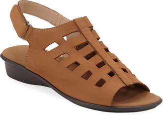 Sesto Meucci Ellia Laser-Cut Nubuck Comfort Sandal