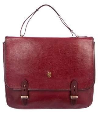 Cartier Vintage Grained Leather Briefcase