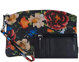 LODIS Leather Wristlet Pouch with RFID Card Case
