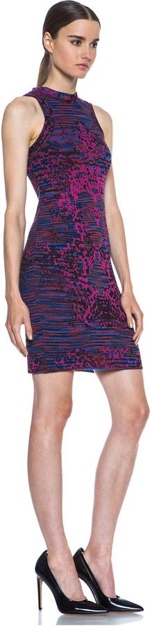 M Missoni Missoni Intarsia Mini Tank Dress in African Violet