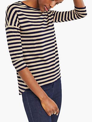69e5191cb6f1 Oasis Supersoft Stripe T-Shirt, Multi Blu