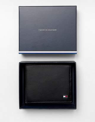 eac7f02a94 Tommy Hilfiger Eton mini billfold leather wallet in black