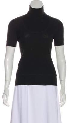 Akris Punto Short Sleeve Turtleneck