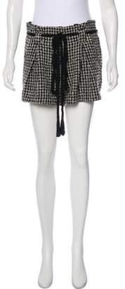 L'Agence Houndstooth Mini Shorts