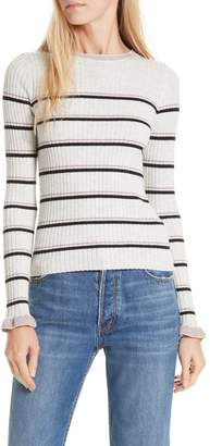 Rebecca Taylor Cotton Wool Blend Stripe Sweater