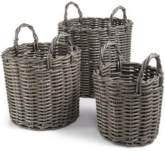 Home Essentials 3-Pc. Rattan Basket Set
