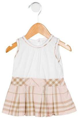 Burberry Girls' Nova Check Print Pleated Dress