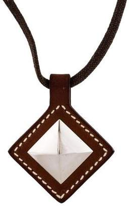 Hermes Sirius Leather Pendant Necklace