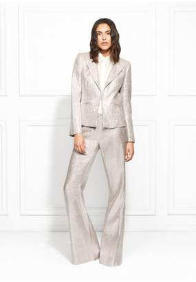 Rachel Zoe Daisy Metallic Suiting Blazer