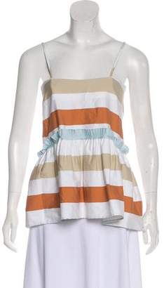 Tanya Taylor Sleeveless Stripe Top