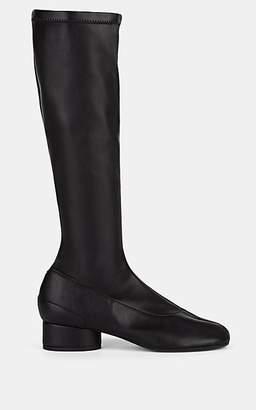 Maison Margiela Women's Tabi Leather Knee Boots - Black