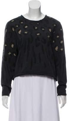 AllSaints Cropped Printed Sweatshirt