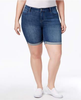 Celebrity Pink Plus Size Denim Bermuda Shorts