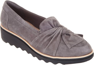 Clarks Suede Slip-On Loafer with Knotted Detail - Sharon Dasher