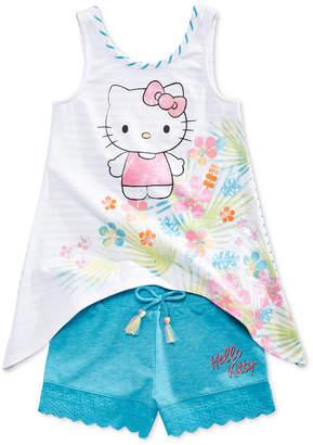 Hello Kitty 2-Pc. Tank Top & Shorts Set, Little Girls