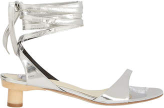 Tibi Scott Metallic Wrap Sandals