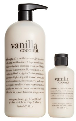 Philosophy Vanilla Coconut Shampoo, Shower Gel & Bubble Bath Duo $28 thestylecure.com