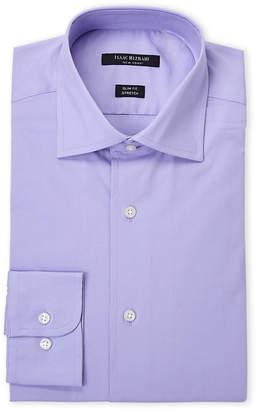 Isaac Mizrahi Orchard Lavender Stretch Slim Fit Dress Shirt