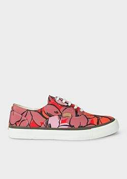 Paul Smith Women's Red Floral 'Balfour' Trainers