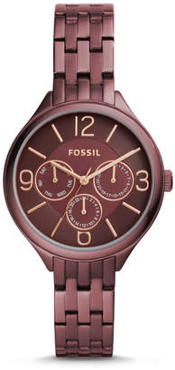 Fossil Suitor Three-Hand Wine Stainless Steel Watch