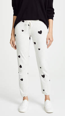 Monrow Super Soft Sweats with Scattered Hearts