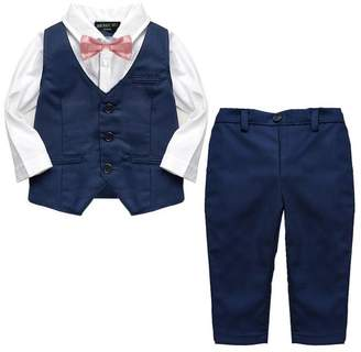 baby magic dress Baby Boy's 2pc Formal Christening Navy Wedding Suit
