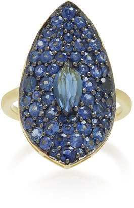 Ila Blue Moon 14K Gold and Sapphire Ring