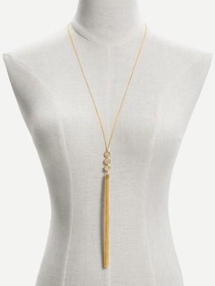 Shein Long Tassel Pendant Chain Necklace