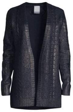 TSE x SFA Cashmere Metallic Cabled Cardigan
