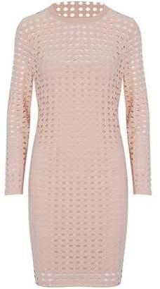 Alexander Wang Laser-Cut Stretch-Jersey Mini Dress