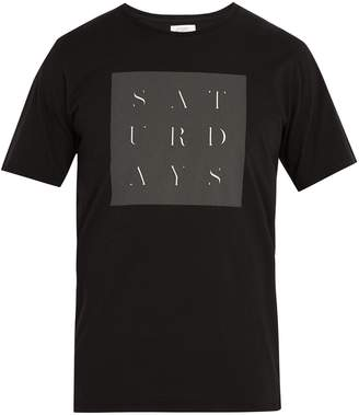 Saturdays NYC Stencil Grid printed-cotton T-shirt