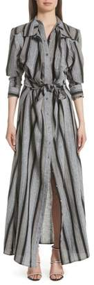Y/Project Long Stripe Linen Shirtdress