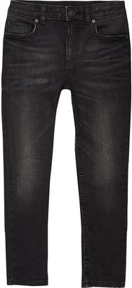 River Island Mens Boys Black wash Sid skinny jeans