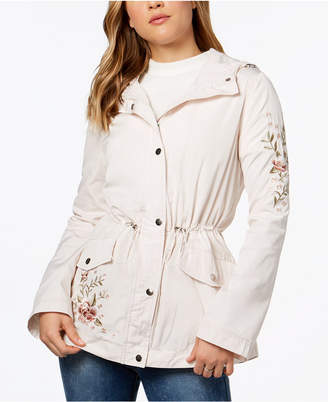 Juniors' Hooded Embroidered Anorak