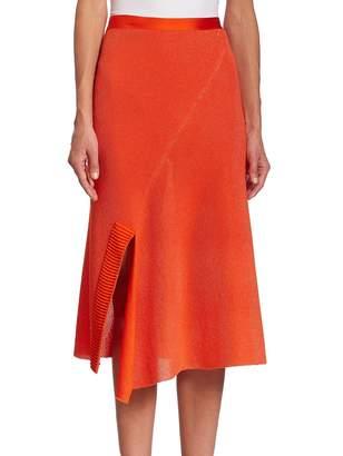 Victoria Beckham Women's Solid Cotton-Blend Skirt
