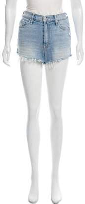 Mother Distressed Mini Shorts