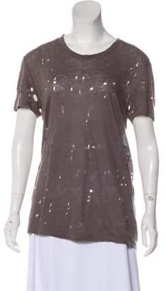 IRO Distressed Linen Top Distressed Linen Top