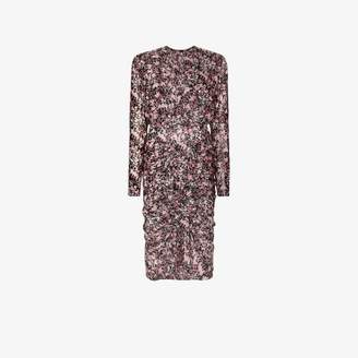 Giambattista Valli ruffled floral print dress