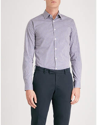 Tiger of Sweden Brody checked extra slim-fit cotton-blend shirt