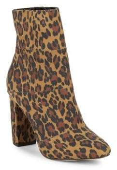BCBGeneration Coral Leopard Print Ankle Boots