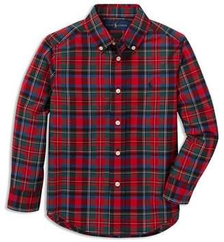 Ralph Lauren Boys' Poplin Plaid Shirt - Little Kid