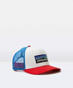 Patagonia P-6 Logo Trucker Cap White/Fire/Blue