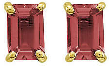 QVC Emerald-cut Gemstone Post Earrings, 14K Gold