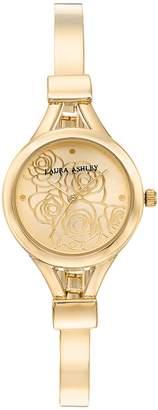 Laura Ashley Lifestyles Women's Floral Half Bangle Watch