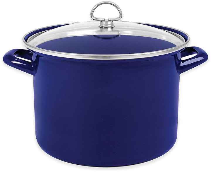 ChantalChantal® 8 qt. Enamel-on-Steel Stock Pot with Glass Lid