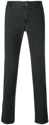 Incotex skinny check trousers