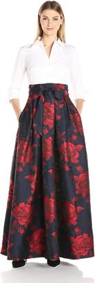 Eliza J Women's Ballgown with Printed Skirt